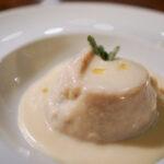 Sformatino di topinambur e fonduta al formaggio Osteria il Cadraio