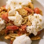 Agnolotti del plin con triglia mozzarella e pomodorini Osteria il Cadraio Genova
