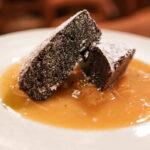 Brownies su composta d'arance Osteria il Cadraio Genova Centro storico