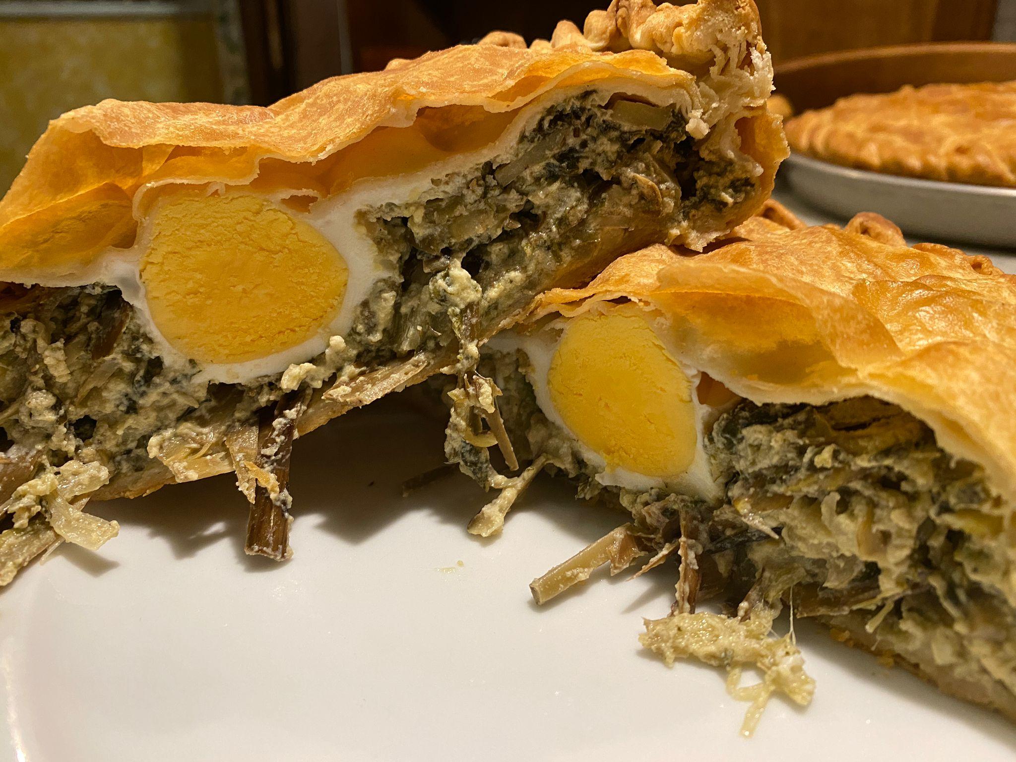 Ricetta torta pasqualina con carciofi e biete