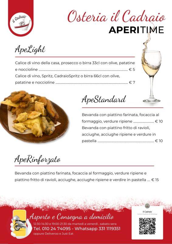 Aperitime Menu: l'aperitivo a Genova a base di specialità della cucina ligure